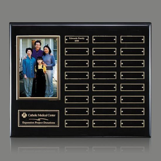 Photo (Vert) P/Plaque - Black/Gold 24 Plate
