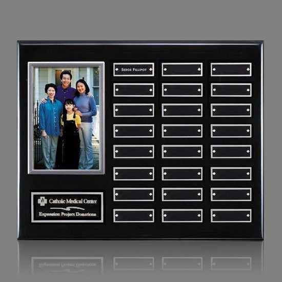 Photo (Vert) P/Plaque - Black/Silver 24 Plate