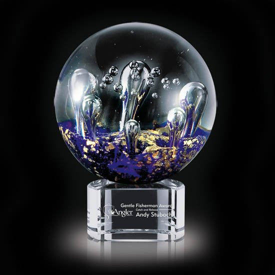 "Serendipity Award on Clear Base - 4"" Diam"