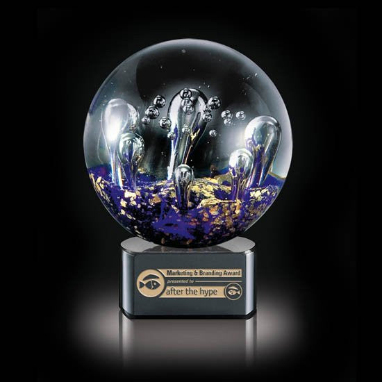 "Serendipity Award on Black Base - 6 1/4"" Diam"