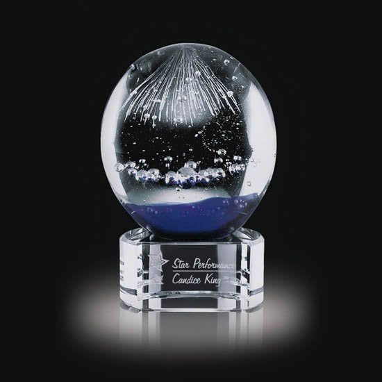 "Starburst Award on Clear Base - 5"" High"