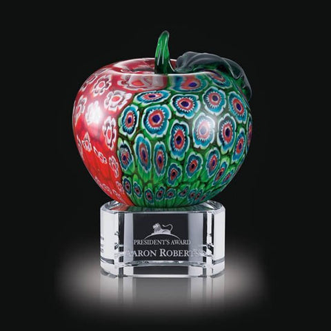 "Arcadia Apple on Clear Base - 5 1/2"" High"