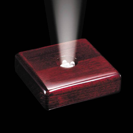 "Meridian LED Base - Rosewood 3 1/2"" x 3 1/2"""