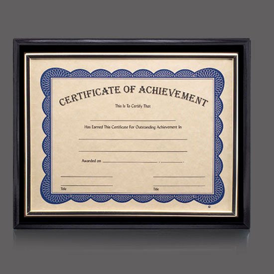 "Farnsworth Cert Holder - Black/Gold 8 1/2""x11"""