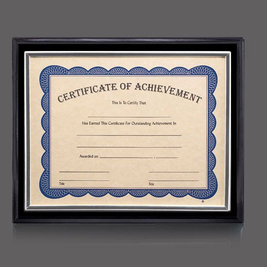 "Farnsworth Cert Holder - Black/Silver 8 1/2""x11"""