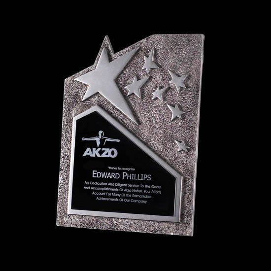"Ruddington Star Award - 4 3/4""x6 3/4"" Silver"