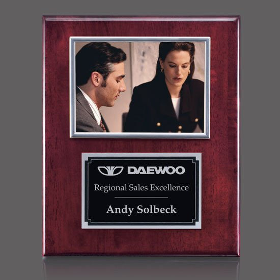"Metcalfe Plaque - Rosewood/Silver 5""x7"" Photo"