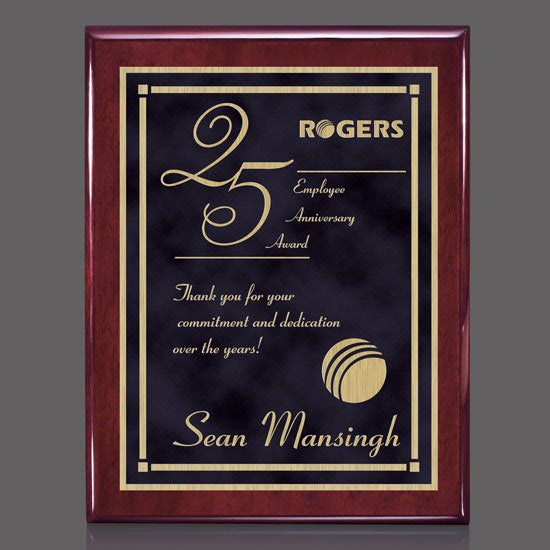 "Oakleigh/Contempo Plaque - Rosewood/Black 9""x12"""