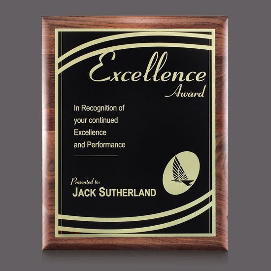 "Sedgewick/Marietta Plaque - Walnut/Black 9""x12"""