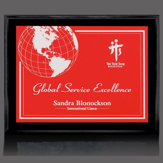 "Farnsworth/Gemini Plaque - Black/Red 7""x9"""