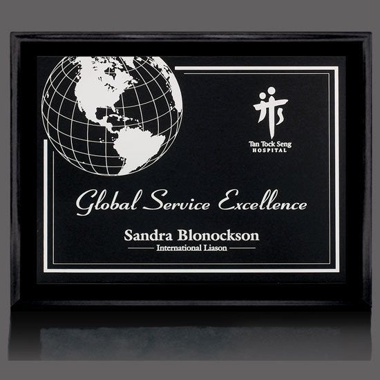 "Farnsworth/Gemini Plaque - Black/Black 10 1/2""x13"""