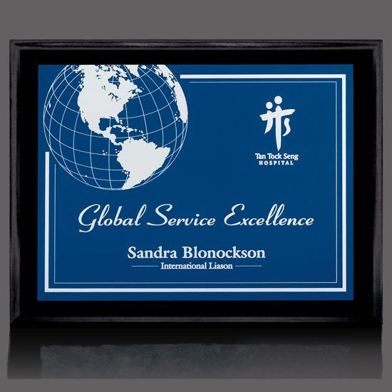 "Farnsworth/Gemini Plaque - Black/Blue 10 1/2""x13"""