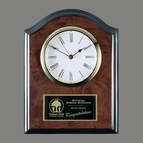 Fallingbrook Clock Plaque - Burlwood