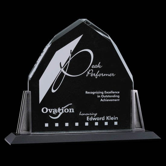 "Avalon Award - Starfire/Pewter 12""x12"""