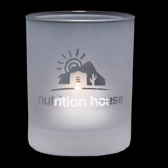 "Evaton Frosted Candleholder - 2 1/2"" Small"
