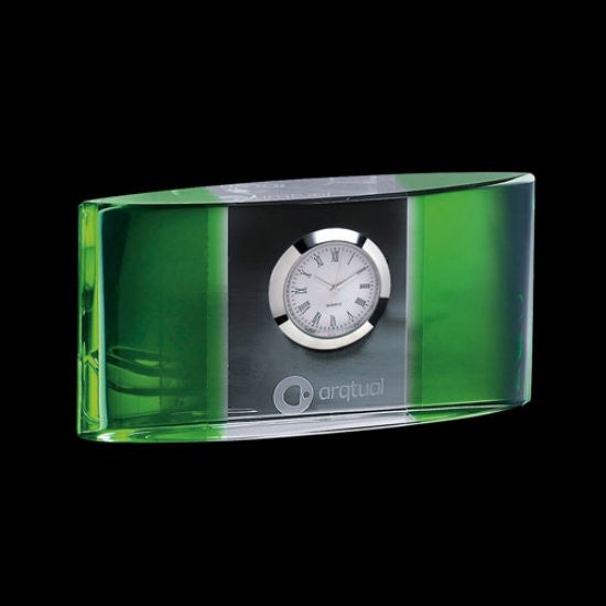 "Atlanta Clock - Optical/Green 5 1/2"" Wide"