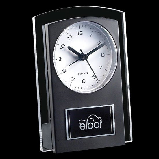 Mallory Clock - Black/Clear 5 1/2""