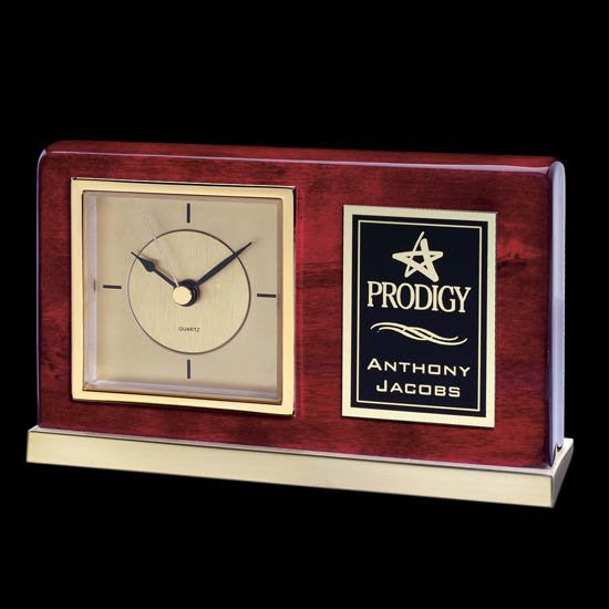 Lincoln Clock - Rosewood/Gold