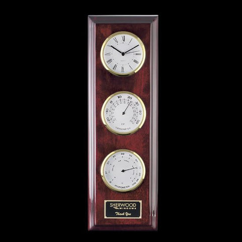 Simmons Clock/Therm/Hygro - Gold