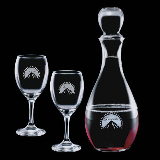 Carberry Decanter & 2 Wine