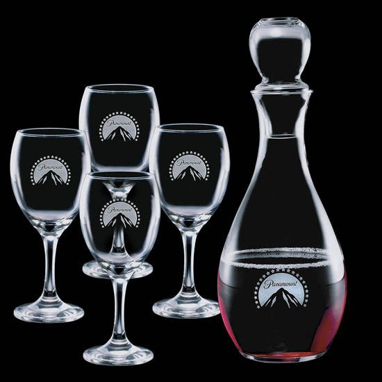 Carberry Decanter & 4 Wine