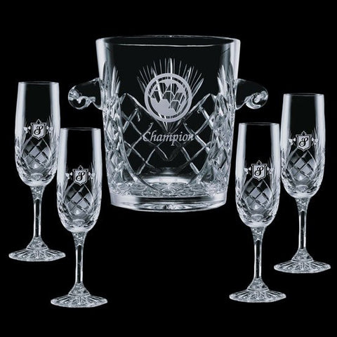 Cavanaugh Wine Cooler & 4 Flutes