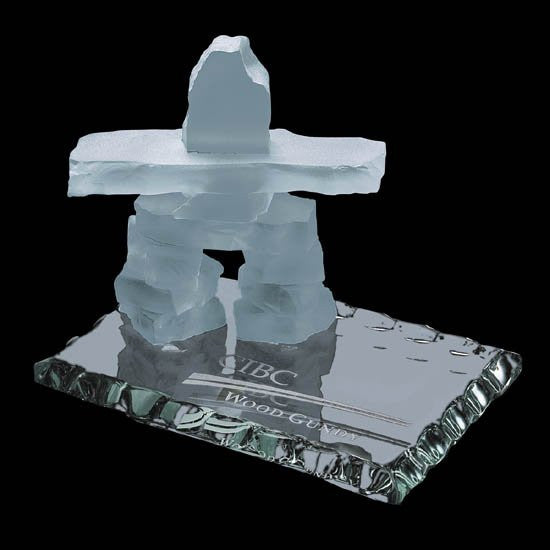 Inukshuk on Jade - Frosted 2 1/2""