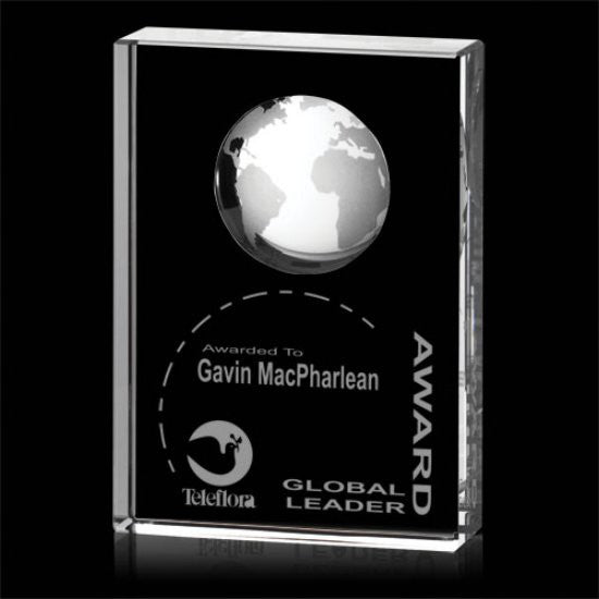 "Ambassador Globe Award - Optical 3""x4"""
