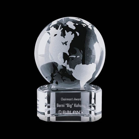 "Globe on Paragon Clear Base - 2-3/8"" Diam"
