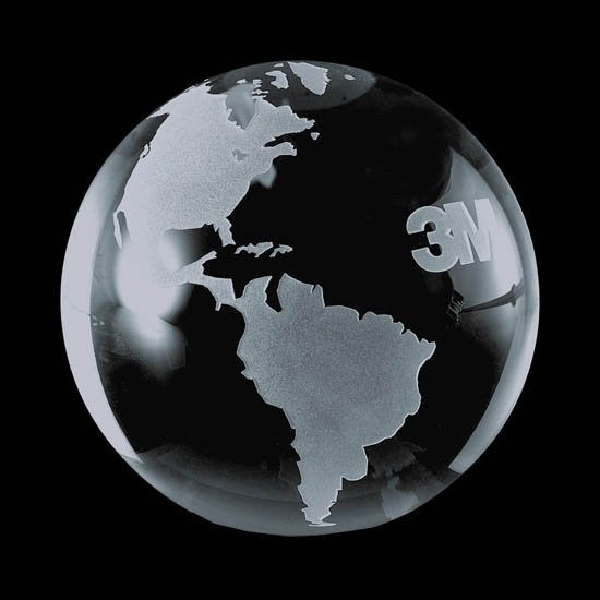 Globe Paperweight - Optical 4""