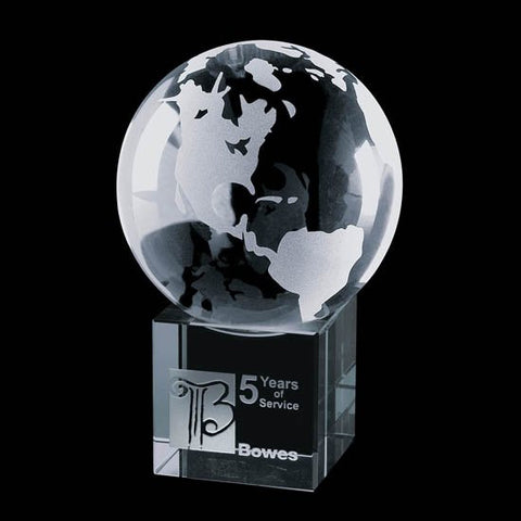 "Globe on Cube - Optical 3-1/8"" Diameter"