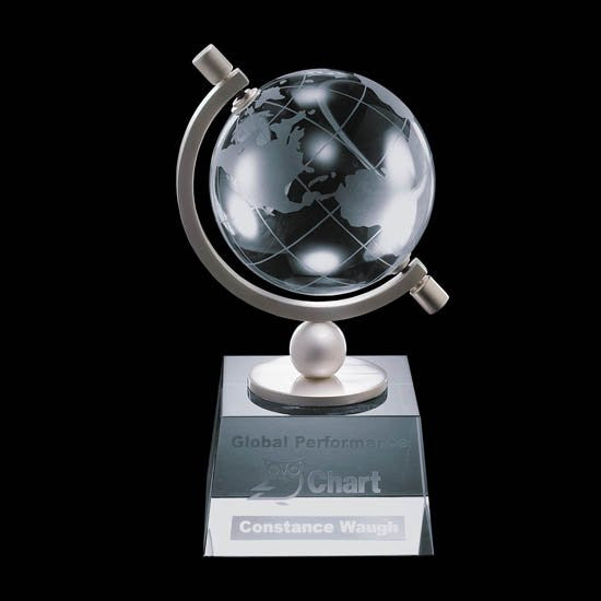 "Ashbrook Globe Award - Optical 4"" Diam"