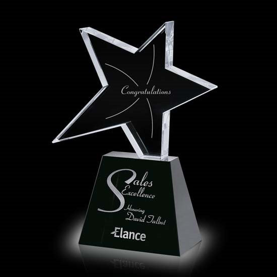 Falcon Star Award - Optical/Black 8""