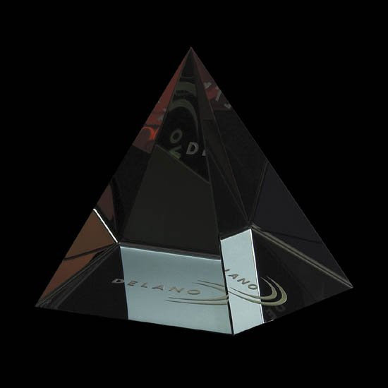 "Colored Pyramid - Optical 2 1/2"" Wide"