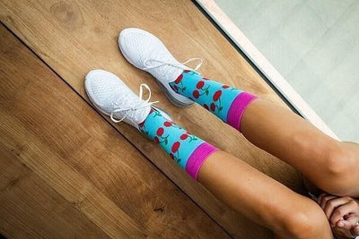 Cherry Bomb - GetSocked Bamboo Socks on Monthly Subscription!