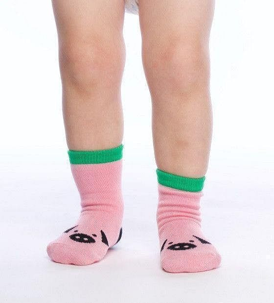 Oink! - Baby Socks by GetSocked - GetSocked Bamboo Socks on Monthly Subscription!
