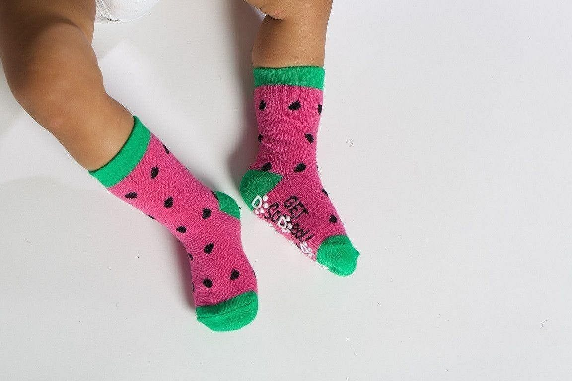 Watermelon  - Baby Socks by GetSocked - GetSocked Bamboo Socks on Monthly Subscription!