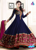 SC 12457 Dark Blue Georgette Anarkali Suit