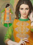 NS11526 Yellow and Orange Chudidar Suit Online