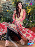 SC 12967 Beige, Pink and Black Printed Pure Cotton Salwar Suit