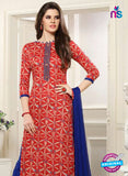 SC 13547 Red and Blue Designer Fancy Traditional Semi-stitched Straight Suit Online