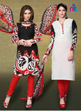 NS11527 Black and Cream Chudidar Suit