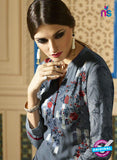 Sahiba 003 Grey Embroidered Georgette Party Wear Suit