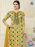 SC 13548 Yellow Designer Fancy Traditional Semi-stitched Straight Suit Online