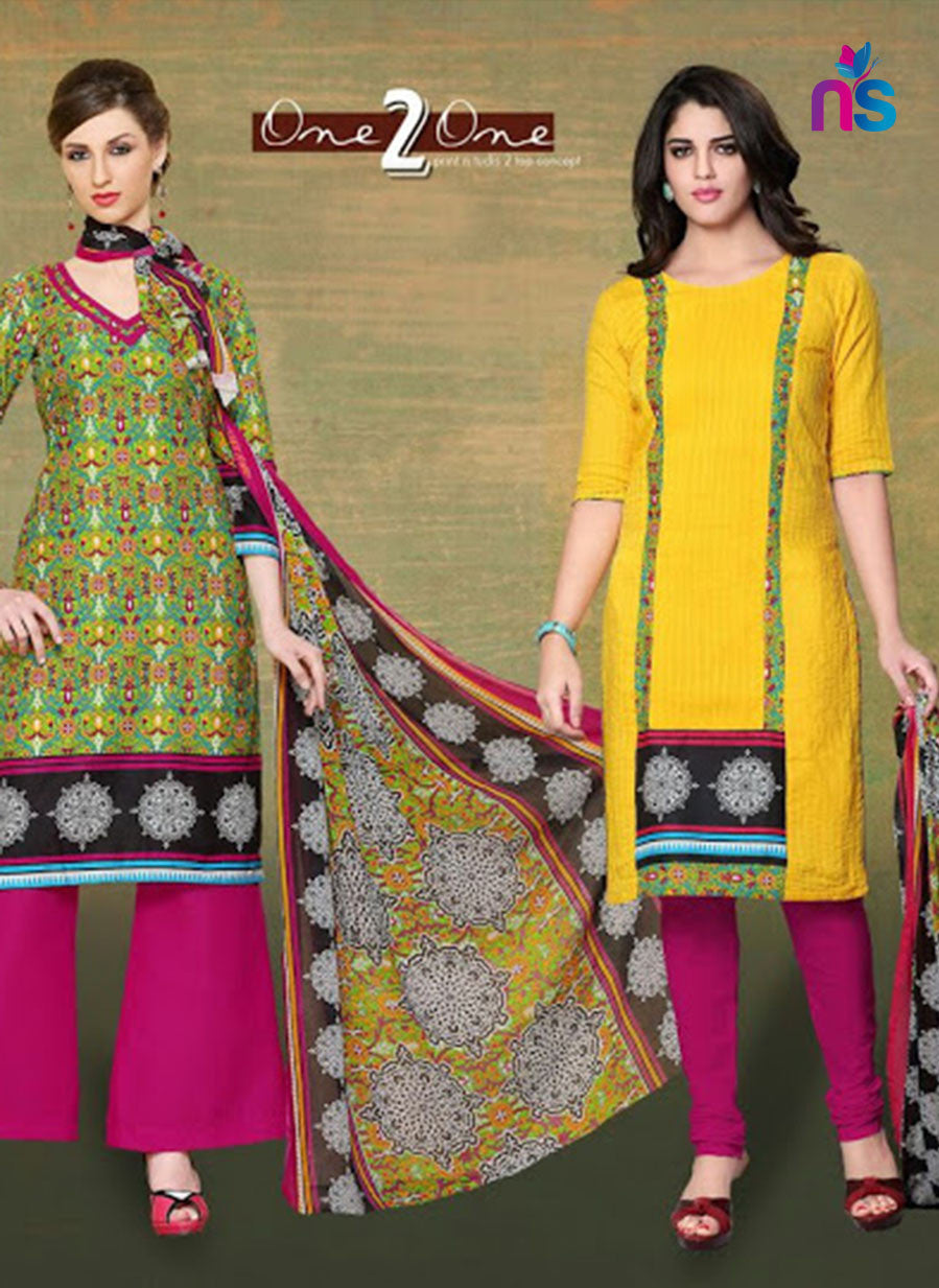 NS11529 Green and Yellow Chudidar Suit