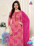 SC 13552 Pink Designer Fancy Traditional Semi-stitched Straight Suit