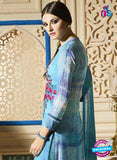 Blue Embroidered Georgette Party Wear Suit Online