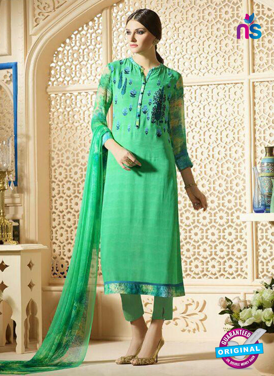 Sahiba 009 Green Embroidered Georgette Party Wear Suit