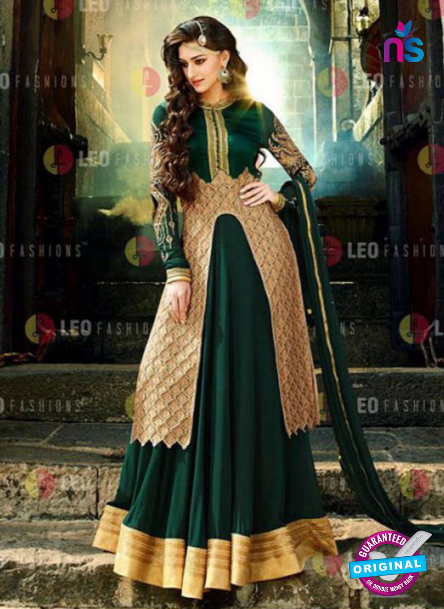 AZ 2088 Georgette Embroidery Green Pakistani Suit