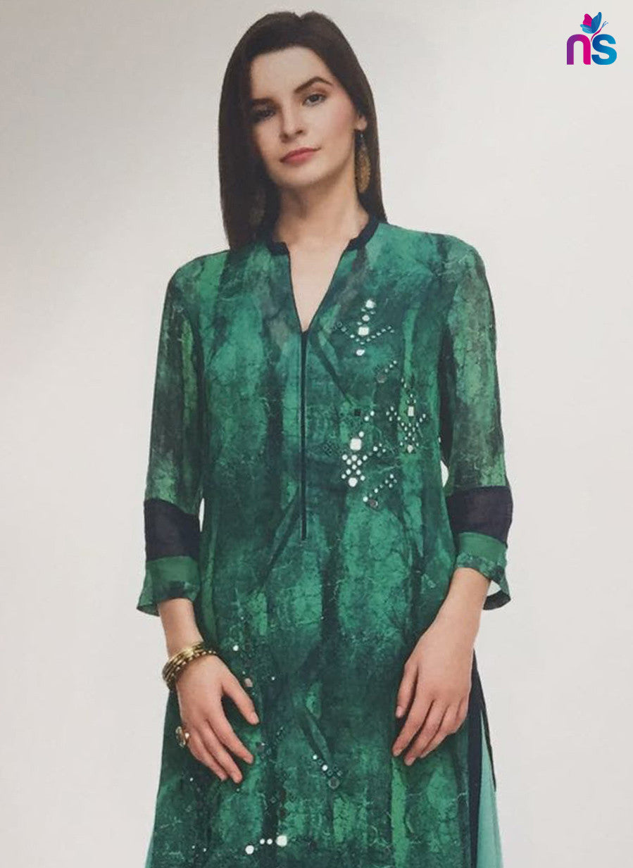 Maple 01  Green Color Georgette Designer Suit